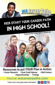 wa career paths high school poster