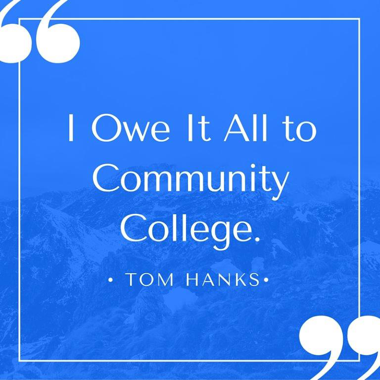 Tom Hanks on community college
