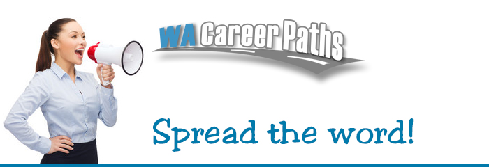 Washington career paths spread the word web banner