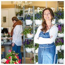 photo of floral business owner